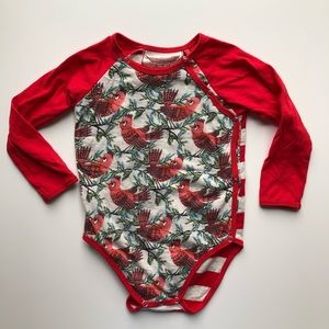 Organic Little Paper Wings | Red Robin Bodysuit